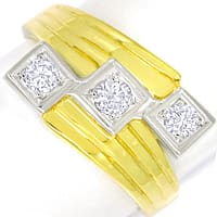 zum Artikel Breiter Trilogie Ring 0,34ct Brillanten in 14K Gold, S2437
