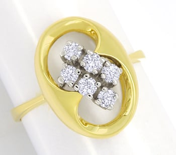 Foto 1 - Modischer Diamantring mit 0,40ct Brillanten in 14K Gold, S2447