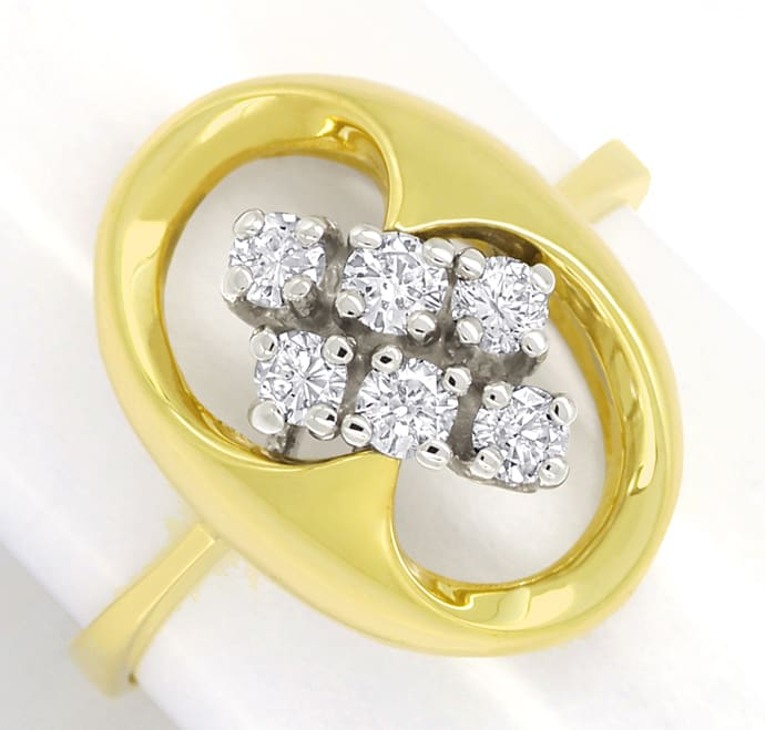 Foto 2 - Modischer Diamantring mit 0,40ct Brillanten in 14K Gold, S2447