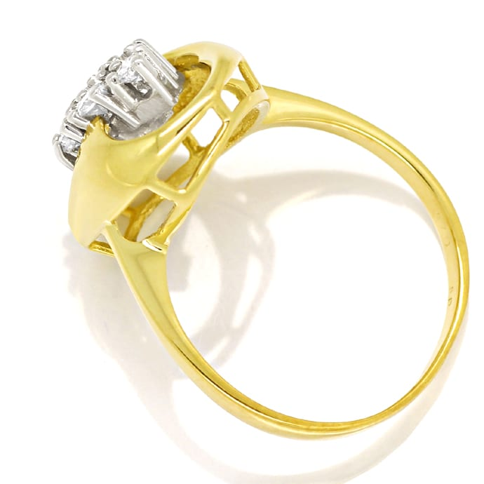 Foto 3 - Modischer Diamantring mit 0,40ct Brillanten in 14K Gold, S2447