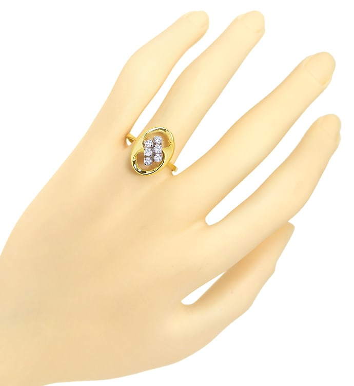 Foto 4 - Modischer Diamantring mit 0,40ct Brillanten in 14K Gold, S2447