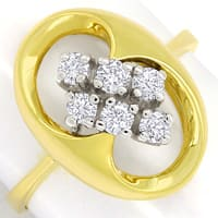zum Artikel Modischer Diamantring mit 0,40ct Brillanten in 14K Gold, S2447