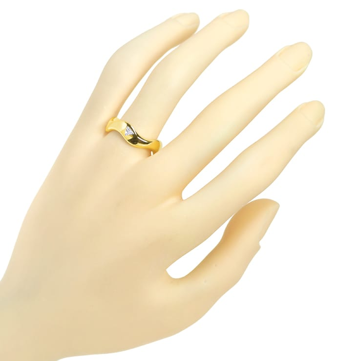 Foto 4 - Stylisher Diamantring Triangel Diamant massiv Gelbgold, S2449