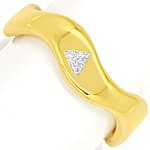 Stylisher Diamantring Triangel Diamant massiv Gelbgold