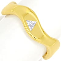 zum Artikel Stylisher Diamantring Triangel Diamant massiv Gelbgold, S2449