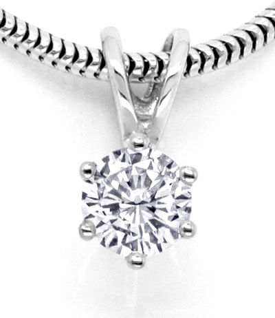Foto 2, Brillant Diamant Kollier 0,31ct Top Wesselton Weissgold, S2471
