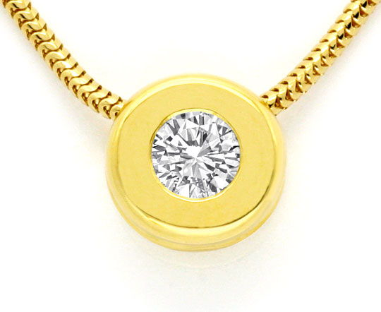 Foto 2 - Brillant Diamant Kollier, River VS 0,30ct 18K Gelb Gold, S2472