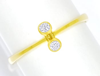 Foto 1 - Filigraner Diamantring 0,10ct Brillanten 14K Gelbgold, S2485