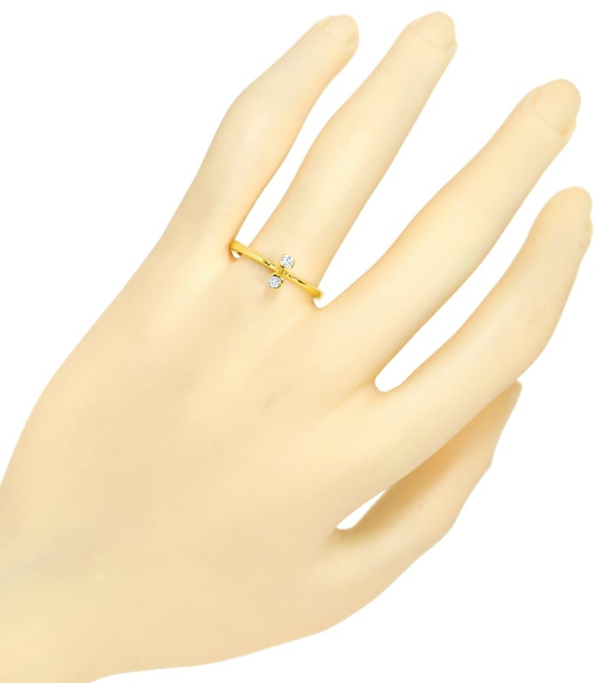 Foto 4 - Filigraner Diamantring 0,10ct Brillanten 14K Gelbgold, S2485