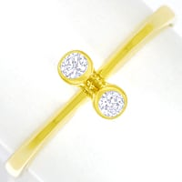 zum Artikel Filigraner Diamantring 0,10ct Brillanten 14K Gelbgold, S2485