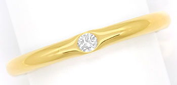 Foto 1, Diamantring Niessing mit 0,06ct Brillant, 900er Rotgold, S2487