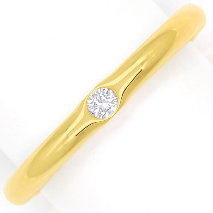 Foto 2, Diamantring Niessing mit 0,06ct Brillant, 900er Rotgold, S2487