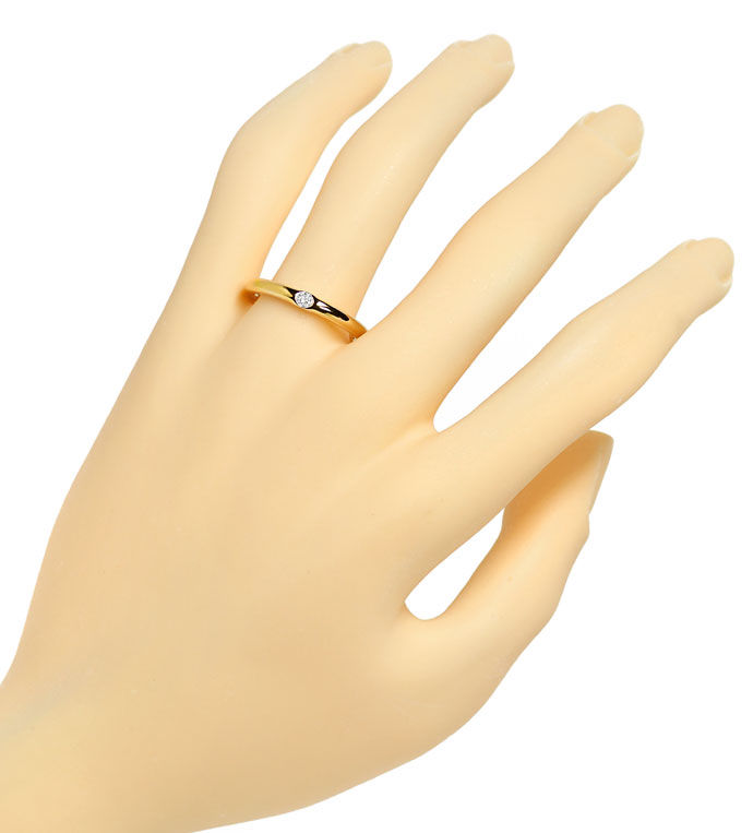Foto 4, Diamantring Niessing mit 0,06ct Brillant, 900er Rotgold, S2487