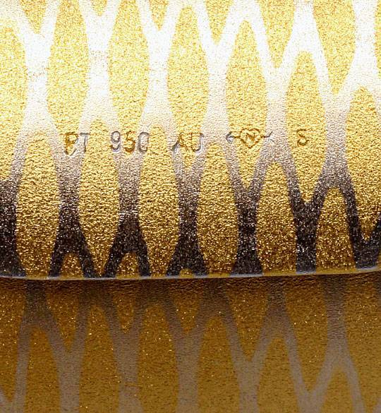 Foto 2, Original Niessing Flexible Armspange in Platin Gelbgold, S2490