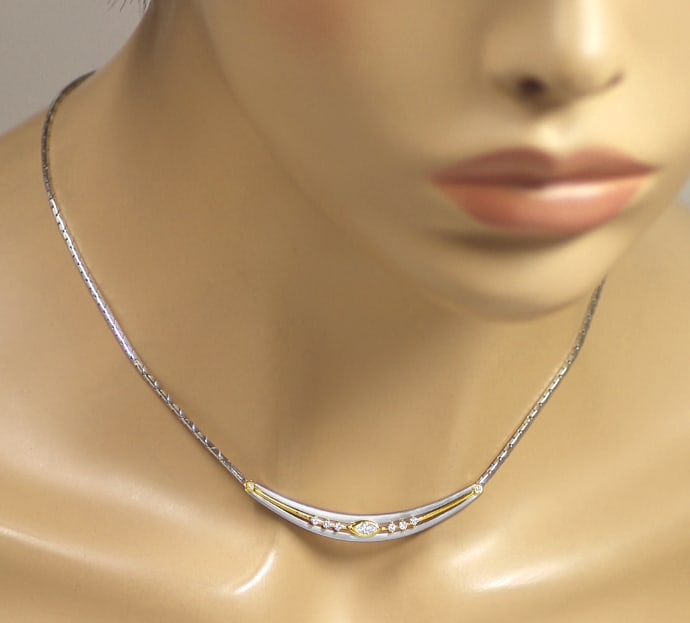 Foto 4 - Cadeaux Collier mit Diamanten in Platin und Gold, S2492