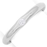 Platinring original Niessing mit 0,08ct River Brilliant