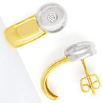 Modische Ohrstecker 0,14ct Brillanten in 14K Gold
