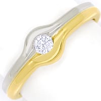 zum Artikel Diamantring mit 0,13ct Brillant Solitär in 14K Gold, S2503