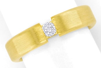 Foto 1 - Schicker Diamantring mit 0,12ct Brillant 14K mattes Gold, S2523