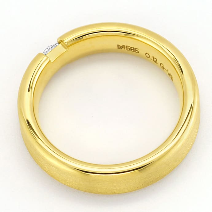Foto 3 - Schicker Diamantring mit 0,12ct Brillant 14K mattes Gold, S2523