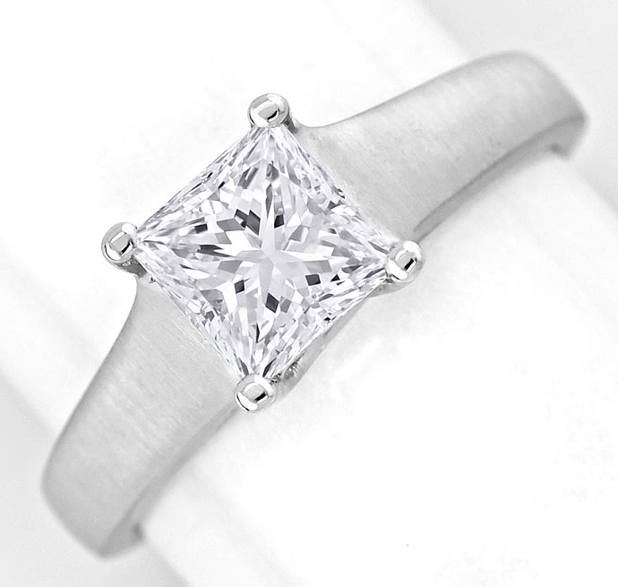 Foto 3 - Diamantring 1,13ct Solitär Princess Cut Diamant in Platin, S2531