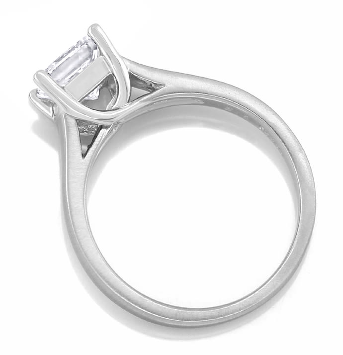 Foto 4 - Diamantring 1,13ct Solitär Princess Cut Diamant in Platin, S2531