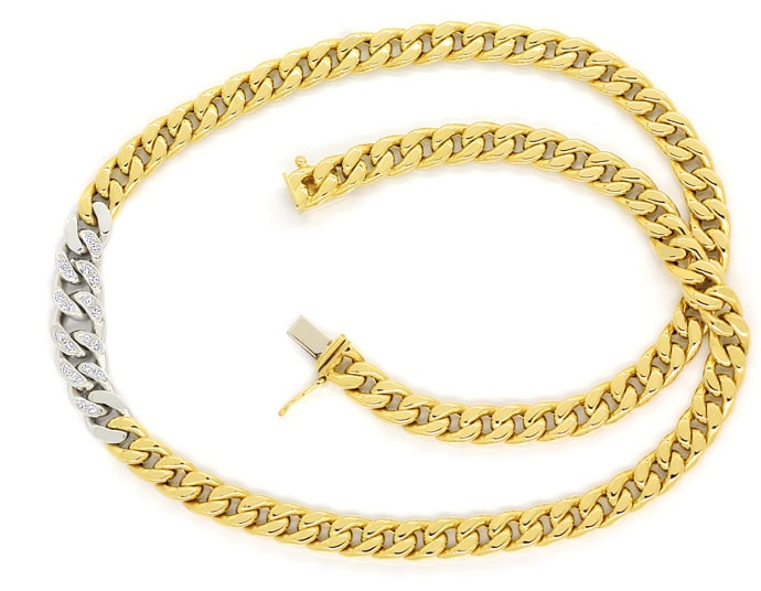 Foto 1 - Modisches Flachpanzer Collier 20 Diamanten in 14K Gold, S2533
