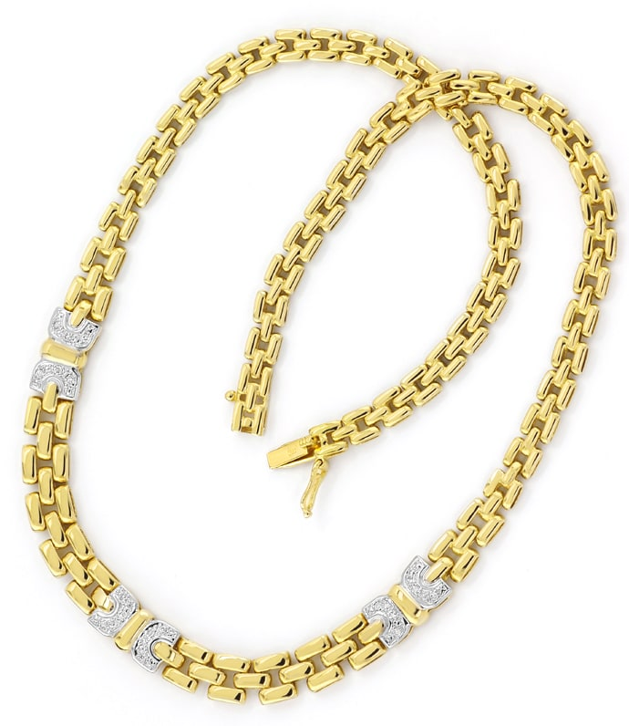 Foto 3 - Attraktives Goldcollier mit 0,20ct Spitzen Brillanten, S2534