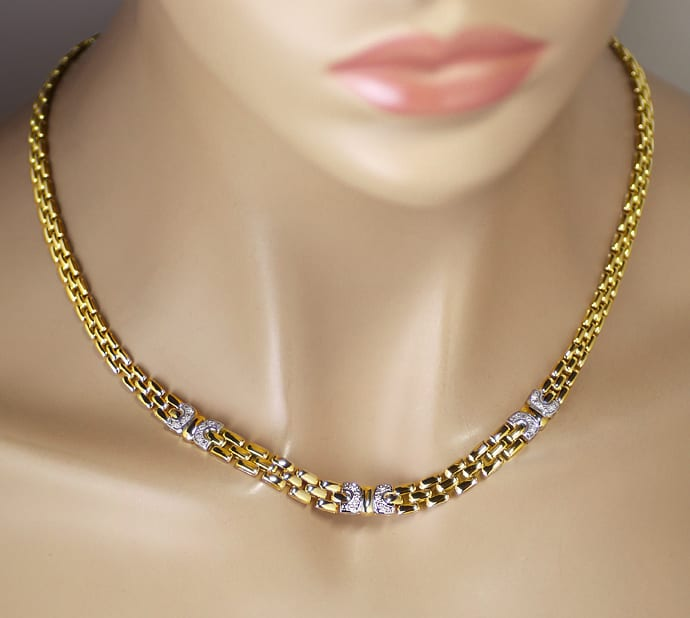 Foto 4 - Attraktives Goldcollier mit 0,20ct Spitzen Brillanten, S2534