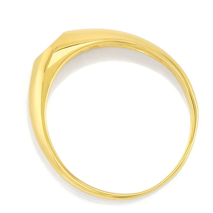 Foto 3 - Bandring mit 0,17ct Brillant Solitär in 14K Gold, S2574