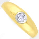 Bandring mit 0,17ct Brillant Solitär in 14K Gold