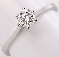 Foto 1, Brillant Diamantring 0,46ct Top Wesselton Plus VS1 18Kt, S2621