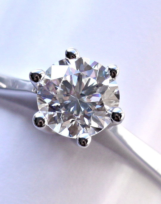 Foto 4, Brillant-Diamantring 0,46ct Top Wesselton Plus VS1 18Kt, S2621