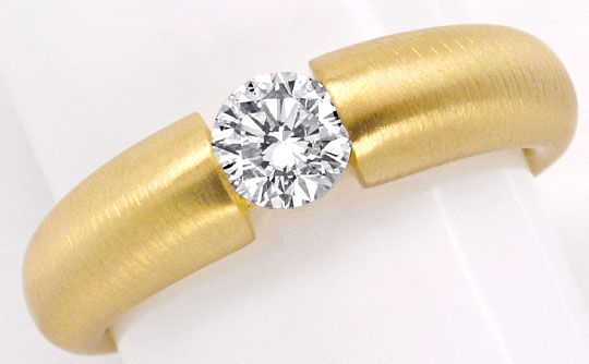 Foto 2, Halbkaräter Brillant Diamantspannring 18Kt Gold SI1plus, S2627