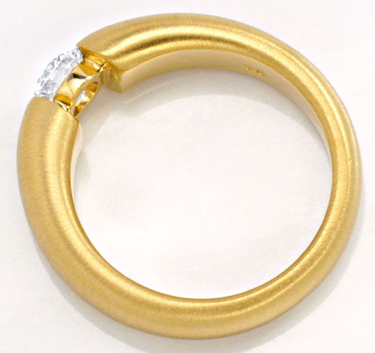 Foto 3, Halbkaräter Brillant Diamantspannring 18Kt Gold SI1plus, S2627