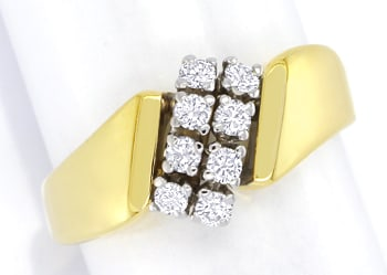 Foto 1 - Schicker Gold Diamantring 0,31ct Brillanten, S2643
