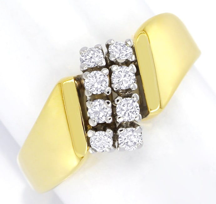 Foto 2 - Schicker Gold Diamantring 0,31ct Brillanten, S2643