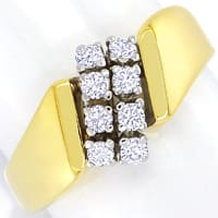 zum Artikel Schicker Gold Diamantring 0,31ct Brillanten, S2643