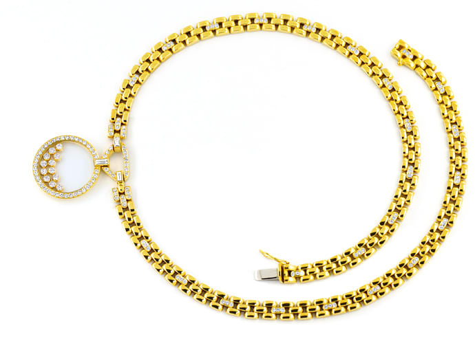 Foto 1, Original Chopard Brillant Collier Happy Diamonds 2,39ct, S2664