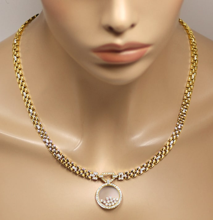 Foto 6, Original Chopard Brillant Collier Happy Diamonds 2,39ct, S2664