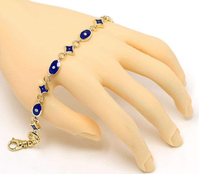 faberge brillanten armband mit blauem emaille 18k gold s2683. Black Bedroom Furniture Sets. Home Design Ideas