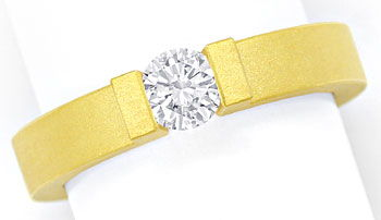 Foto 1, Niessing Omega Spannring 0,4ct Brillant in 18K Gelbgold, S2687