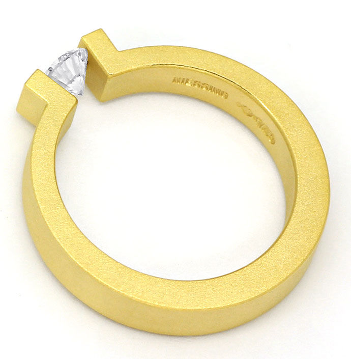 Foto 3, Niessing Omega Spannring 0,4ct Brillant in 18K Gelbgold, S2687