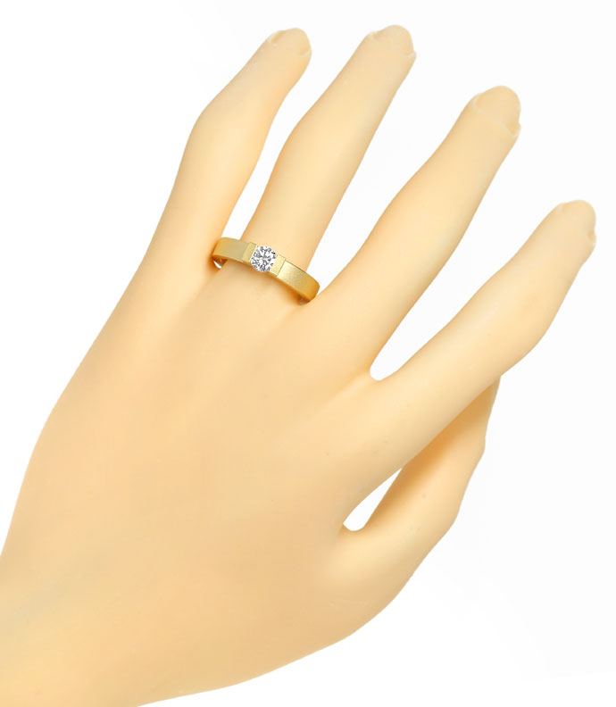 Foto 4, Niessing Omega Spannring 0,4ct Brillant in 18K Gelbgold, S2687