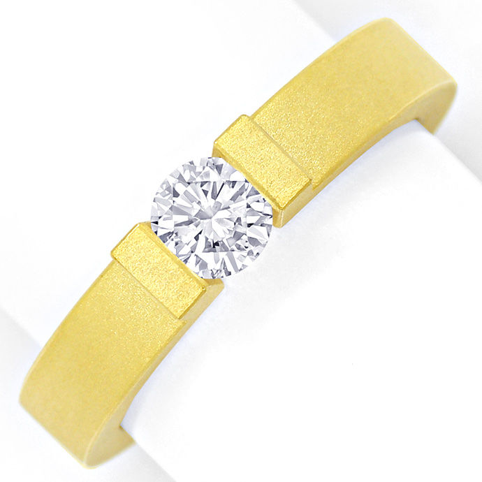 Niessing Omega Spannring 0,4ct Brillant in 18K Gelbgold, Designer Ring