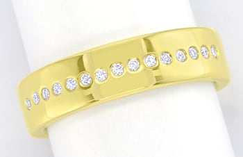 Foto 1 - Moderner Diamantring 15 Brillanten 14K Gold, S2688