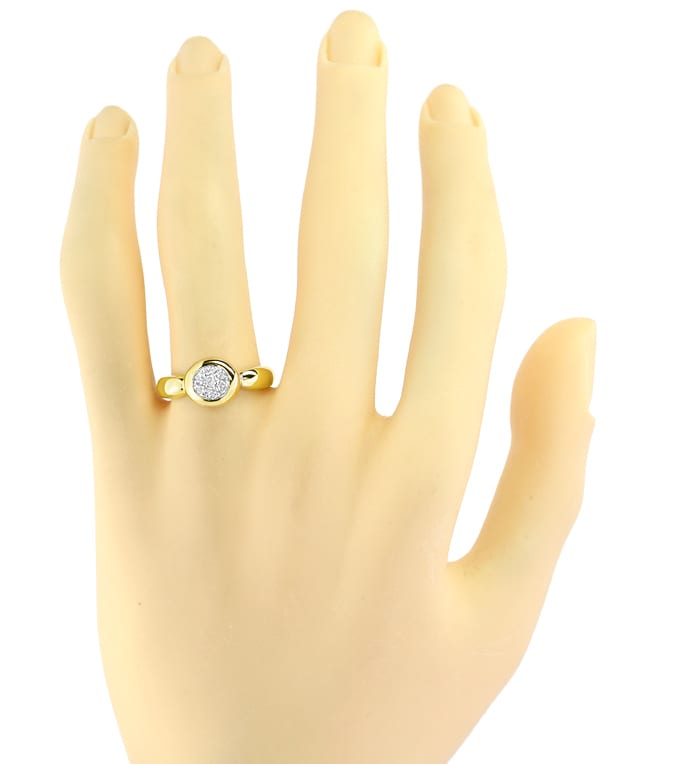 Foto 4 - Dekorativer Damen Goldring 0,14ct Brillanten, S2704