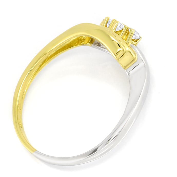 Foto 3 - Damenring 0,15ct Brillanten 14K Bicolor Gold, S2734