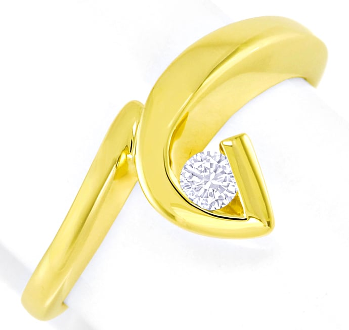 Foto 2 - Designer Diamantring 0,12ct Brillant 14K Gold, S2792