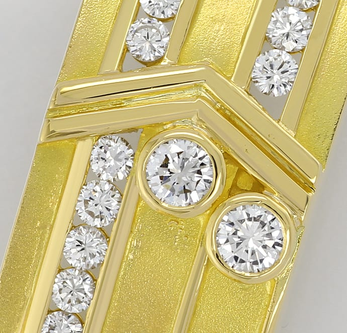 Foto 2 - Herrenarmband 18K massiv 2,35ct Brillanten, S2803